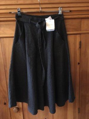 American Vintage Flared Skirt anthracite