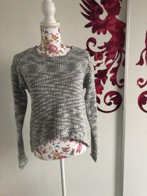Rock angel Maglione lavorato a maglia grigio chiaro-bianco