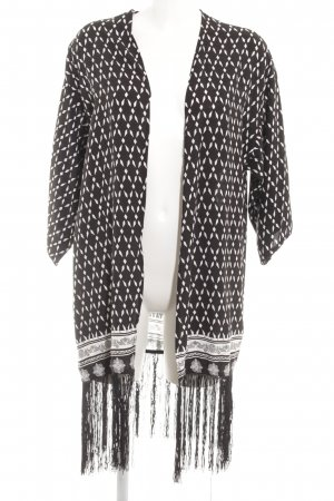 Rock angel Cardigan noir motif abstrait style mode des rues