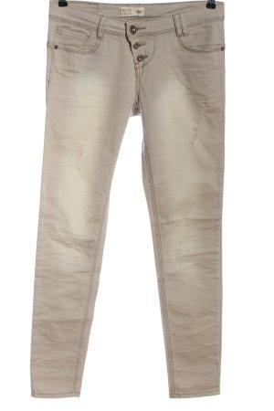 Rock angel Pantalone cinque tasche bianco sporco stile casual