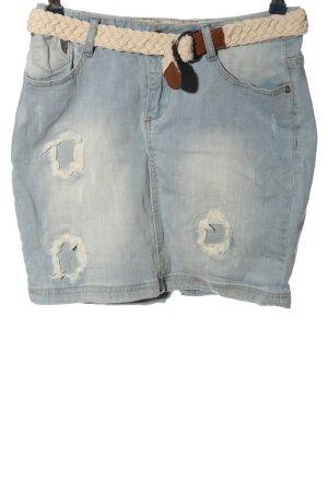 Rock angel Gonna di jeans blu stile casual