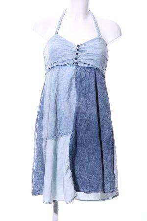 Rock angel Vestido de cuello Halter azul look casual