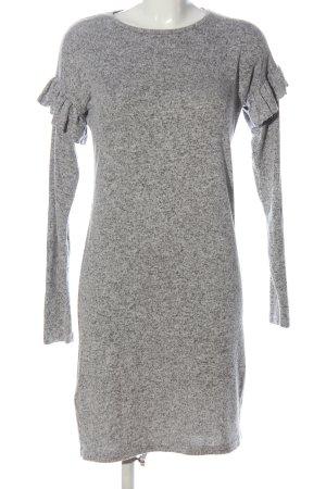 Rock angel Abito di maglia grigio chiaro puntinato stile casual