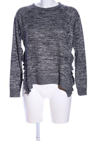 Rock angel Maglione lavorato a maglia nero-grigio chiaro puntinato stile casual