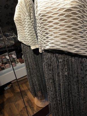 Pleated Skirt black-dark grey