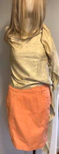 Apanage Falda midi naranja-naranja neón