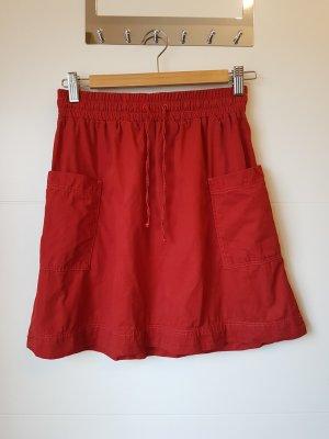 armedangels Midi Skirt dark red