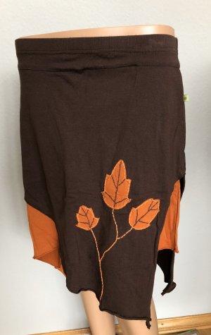 Ohne Asymmetry Skirt dark brown-russet cotton