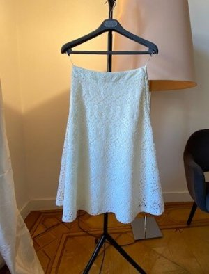 Massimo Dutti Maxi Skirt white-natural white polyester