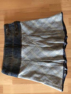 Rock aus Jeans-  Wollrock