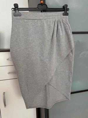 Amisu Wraparound Skirt grey-light grey mixture fibre