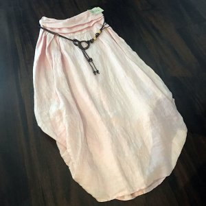 Falda de lino rosa empolvado Lino