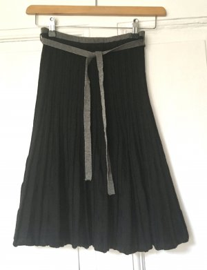 Wool Skirt black-grey merino wool