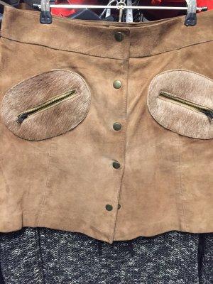 Conleys Falda de cuero marrón claro Cuero