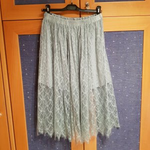 H&M Divided Lace Skirt sage green-mint