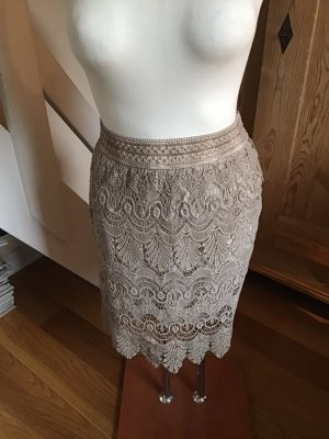 Made in Italy Lace Skirt beige