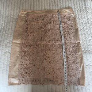 Apanage Falda de encaje crema-color oro