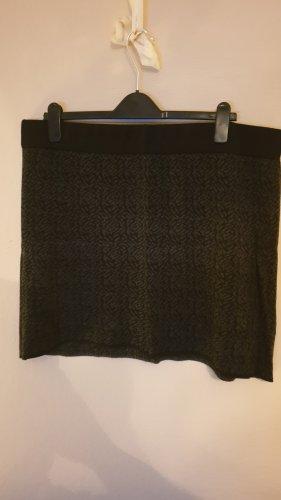 Clockhouse Gonna lavorata a maglia nero-grigio scuro