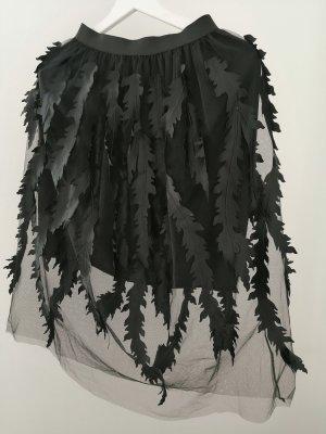 Tulle Skirt black mixture fibre