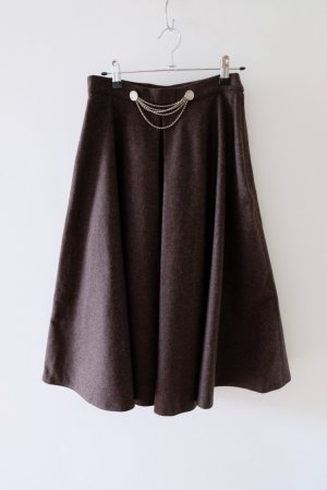 Traditional Skirt anthracite wool