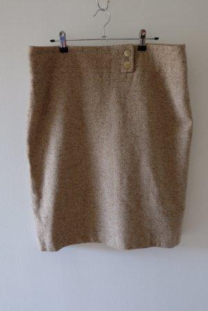 Metradamo Jupe en laine brun sable laine
