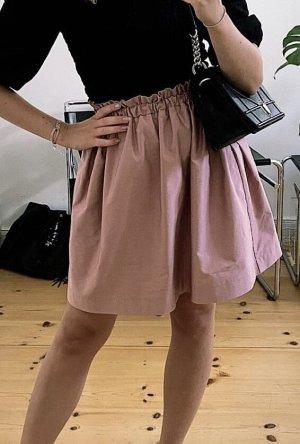 Reserved Balonowa spódniczka w kolorze różowego złota-bladofiołkowy