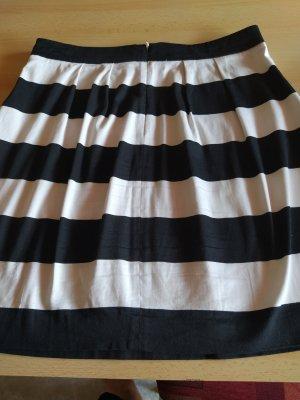 Hallhuber Plaid Skirt white-black cotton