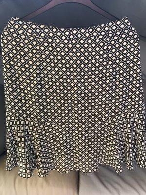 Spódnica z falbanami biały-czarny