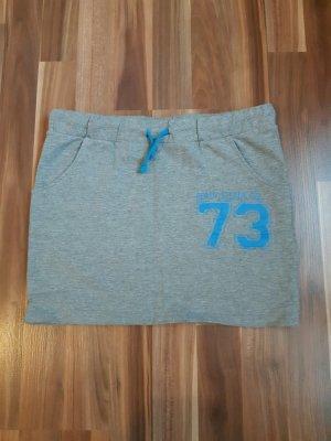 BlendShe Miniskirt grey-neon blue cotton