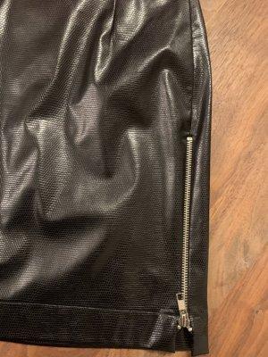 John Richmond Faux Leather Skirt black acetate