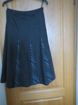Eugen Klein Midi Skirt grey-steel blue