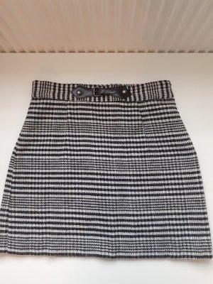 Zara Jupe en tweed blanc-noir