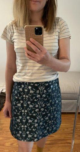 Orsay Asymetryczna spódniczka leśna zieleń-srebrny