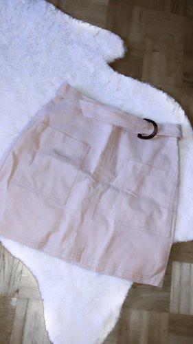 Rock beige braun high waisted skirt minirock