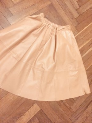 Rock beige caramel cognac Gr. S Echt Leder Zara COS ASOS