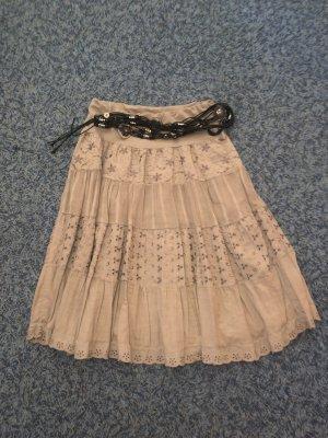 Asymmetrische rok beige