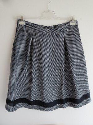 Benetton Plaid Skirt dark blue-white polyester
