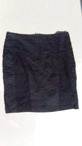 Amisu Spódnica midi czarny Bawełna