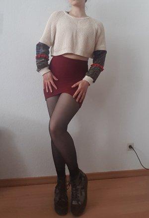 Missguided Mini-jupe rouge foncé