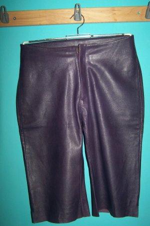 Pantalón de cuero violeta oscuro Cuero