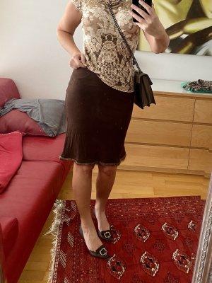 Blumarine Spódnica z godetami brązowy
