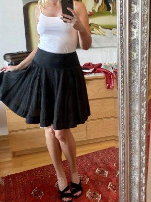 Blumarine Flared Skirt black-white