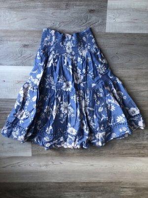 C&A Clockhouse Plisowana spódnica biały-błękitny