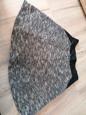 Amisu Spódnica mini biały-czarny