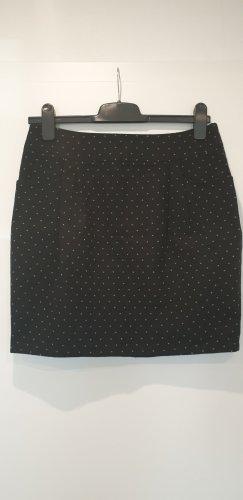 Fishbone Mini rok zwart-grijs