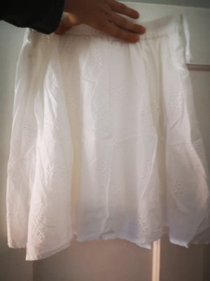 Pieces Stretch Skirt white