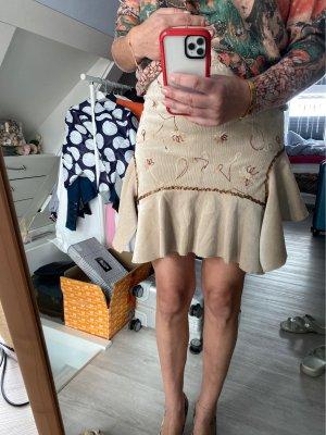 Asymmetry Skirt light brown-cream