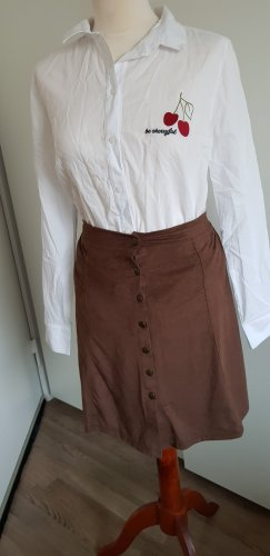 24 colours Faux Leather Skirt light brown