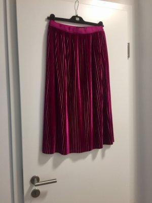 Zara Jupe à plis violet