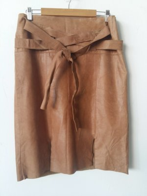 Leather Skirt beige leather